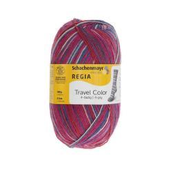REGIA 4-fädig  color 100g Sockenwolle Farbe 09387 festival color